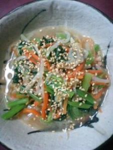 ミックス野菜の簡単ナムル