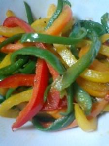 彩り野菜の塩炒め