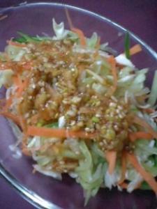 千切り野菜の中華風サラダ