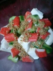 豆腐のサイコロサラダ