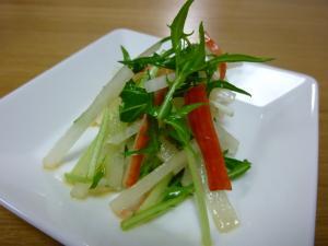 大根と水菜のゆず胡椒風味