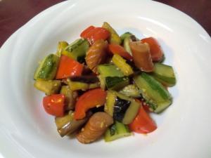 夏野菜のエスニック炒め