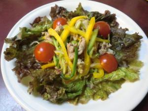 豚肉と夏野菜の韓国風サラダ