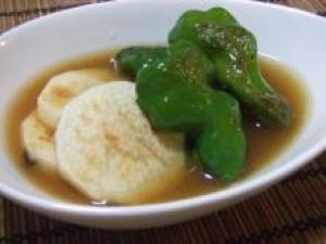 長芋とピーマンの焼き浸し(梅味噌入り)