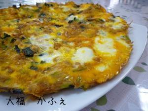 野菜たっぷり ソース風味の卵とじ