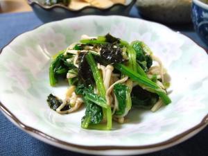 えのきと小松菜の海苔和え