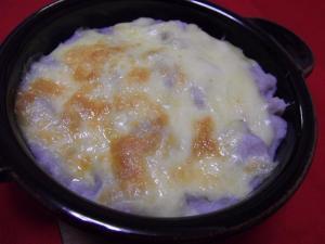 里芋ソースの餅グラタン
