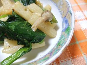 小松菜と長芋の炒めもの