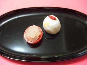 紅白の和な一皿 。大根とトマト