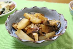 長芋と舞茸のうなたれ炒め