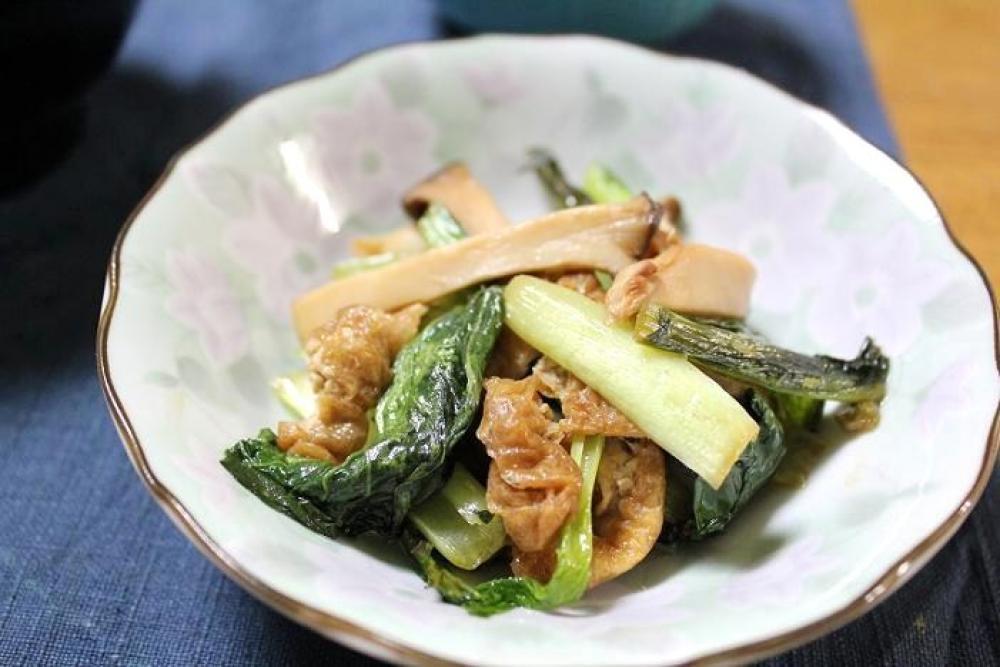 小松菜とエリンギの炒めもの