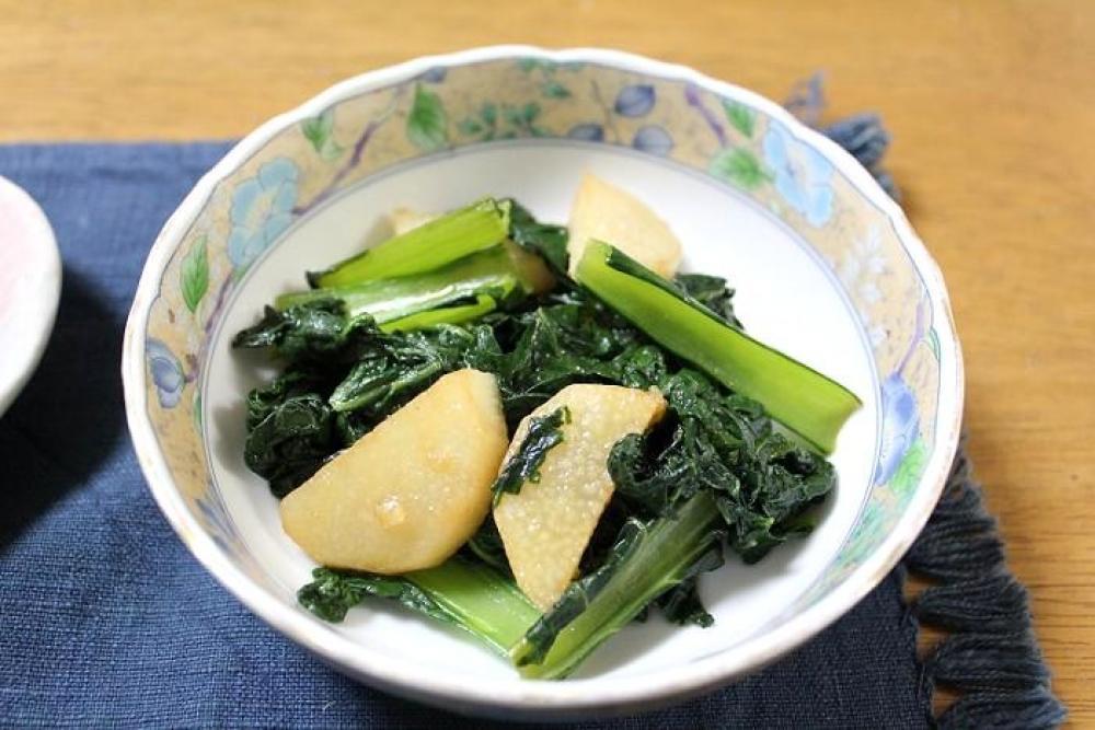 雪菜と長芋のオイスター炒め