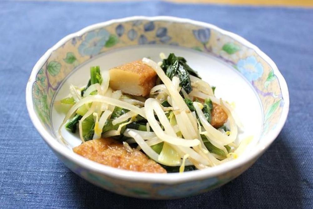 小松菜ともやしの炒めもの