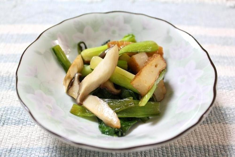 小松菜・さつま揚げのオイスター炒め