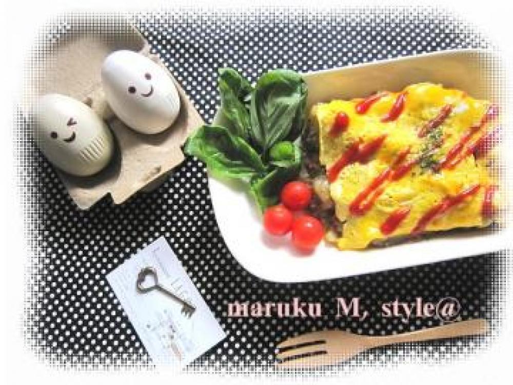 卵トロトロ*野菜ゴロゴロオムレツ