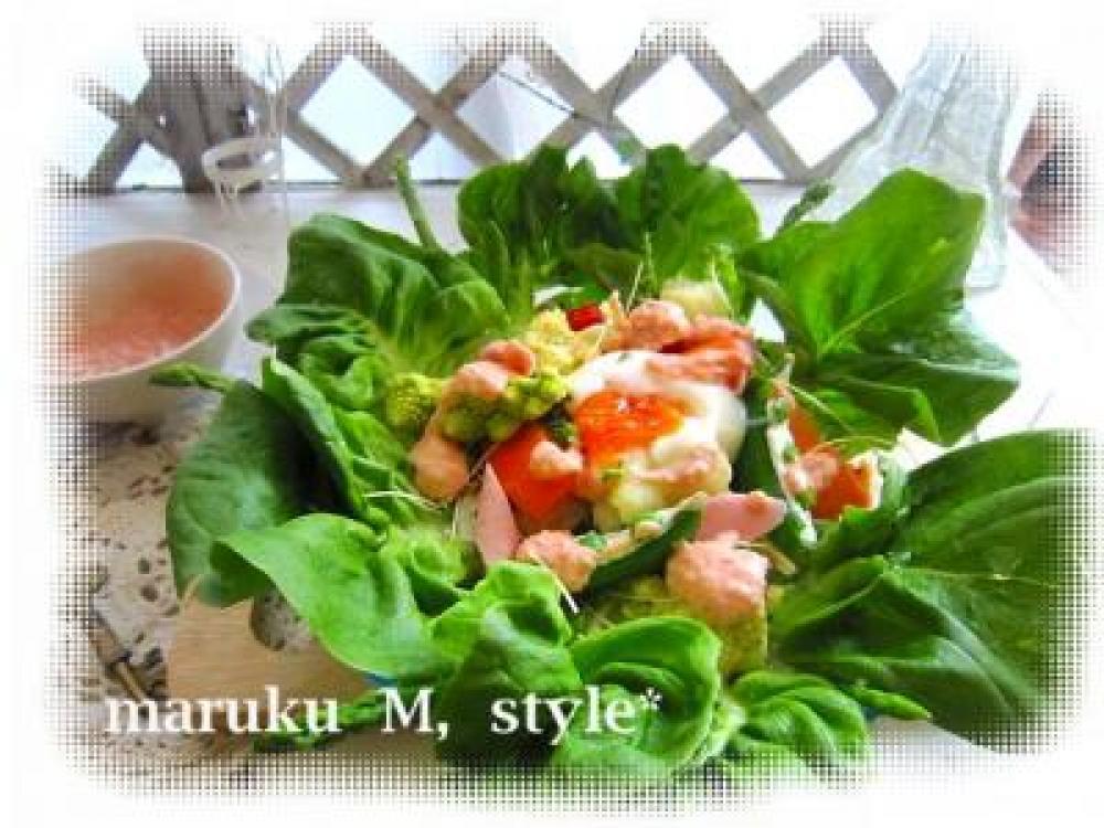 春色ドレッシングのサラダ♪