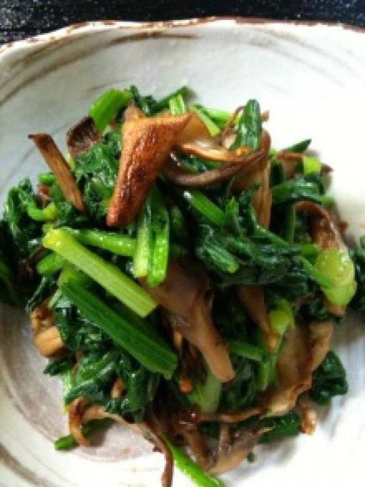青菜ときのこの和え物