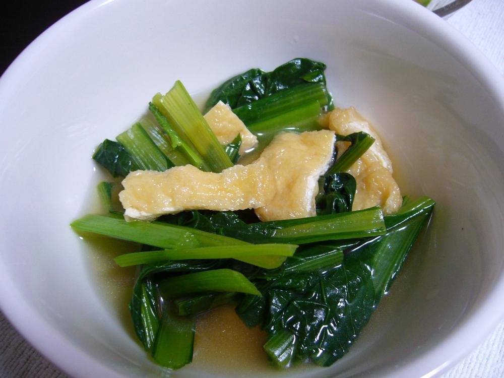 小松菜と油揚げのさっと煮