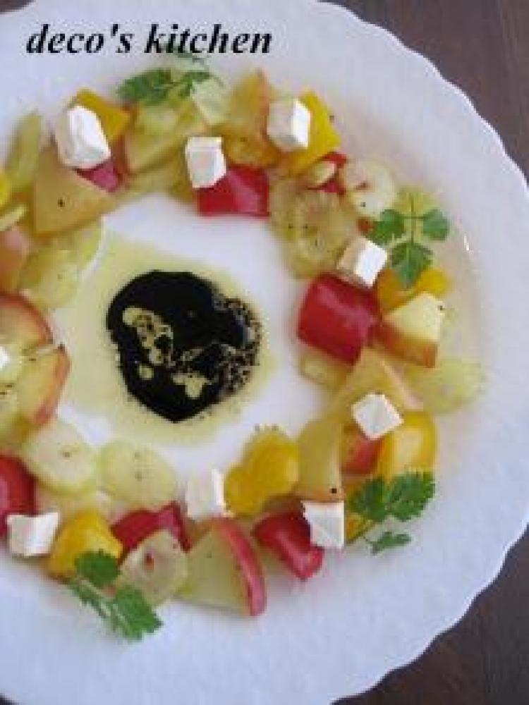焼きリンゴと焼き野菜のクリームチーズ