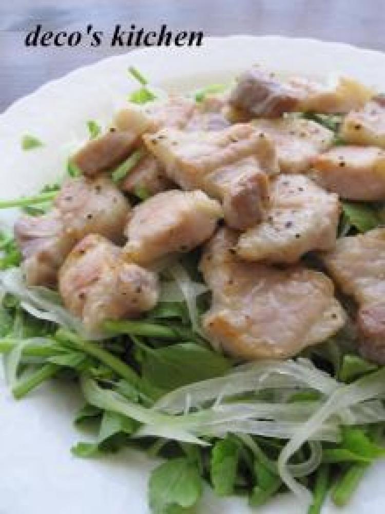 豚玉サラダ仕立て