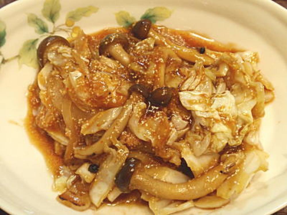 明太子ソースのピリ辛野菜炒め