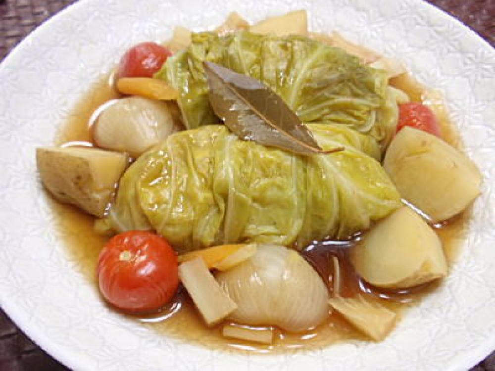 野菜だけで作るロールキャベツレシピ