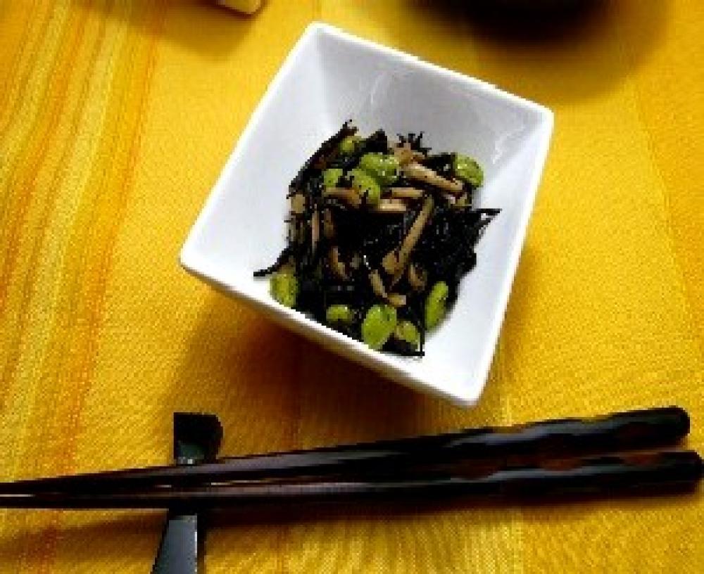 枝豆とエリンギのひじき煮
