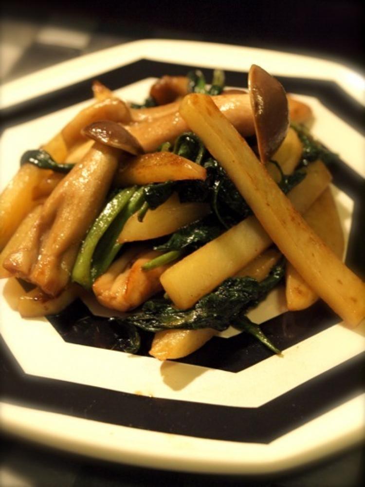 野菜のオイスターソース炒め