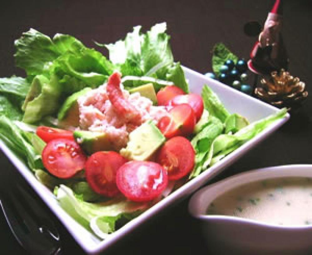 アボカドとカニのサラダ