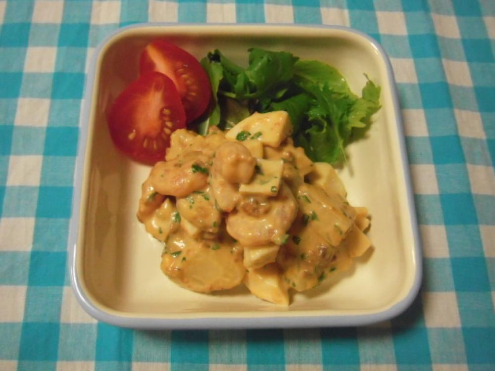 海老と卵のホットポテトサラダ