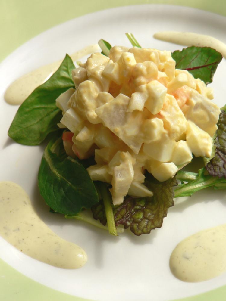 海老と蓮根のエッグサラダ