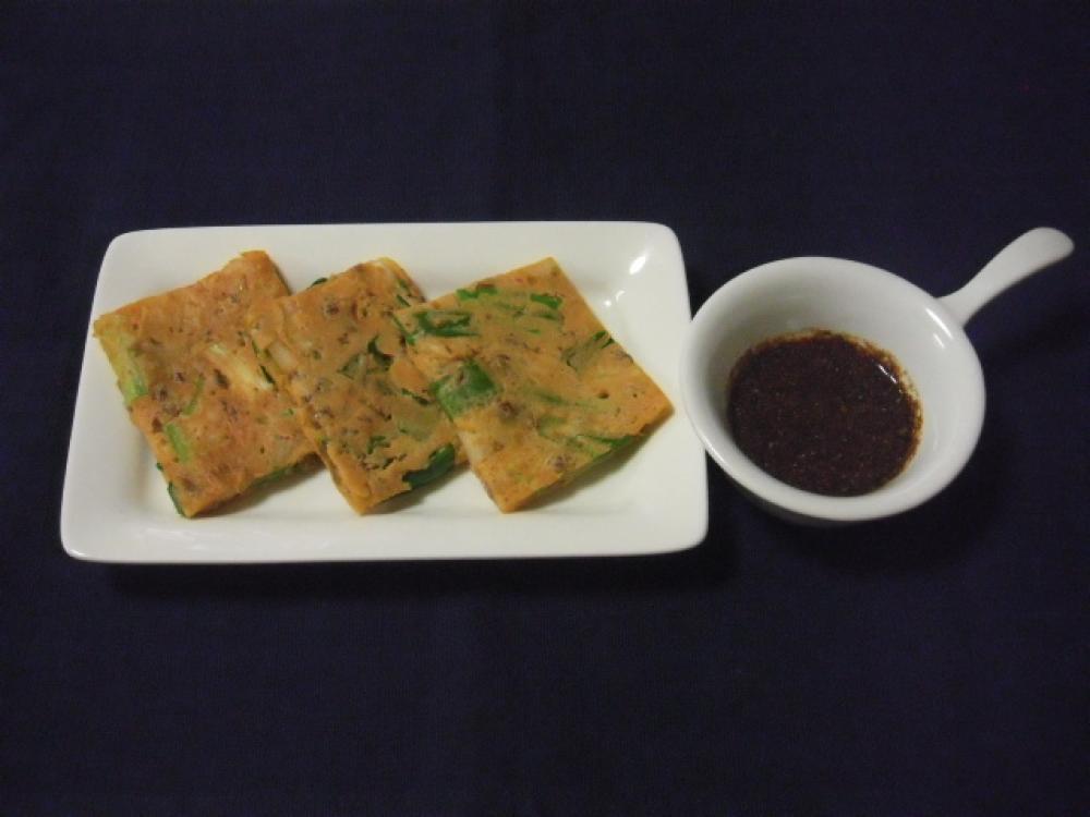 キムチと納豆のチヂミ