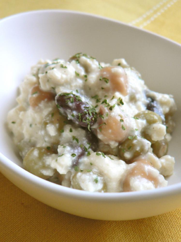 豆腐とMIXビーンズの健康ホワイトサラダ