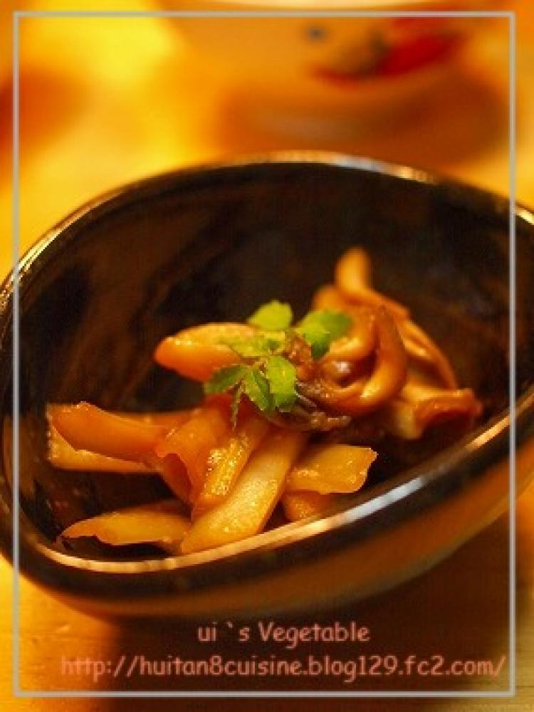 ウドと舞茸の甘味噌炒め