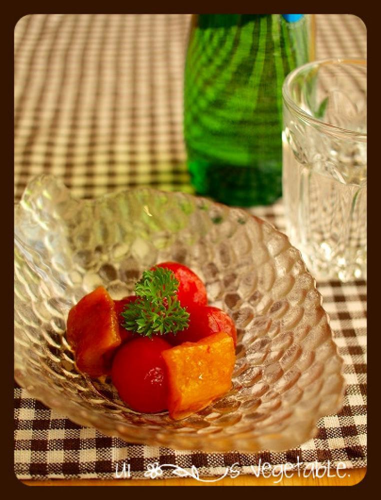 プチトマトとパプリカのマリネ