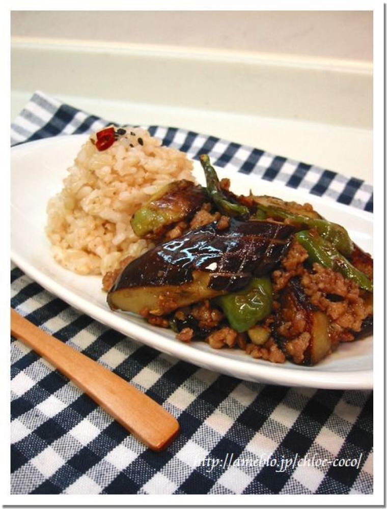 夏野菜とひき肉のカレー炒め