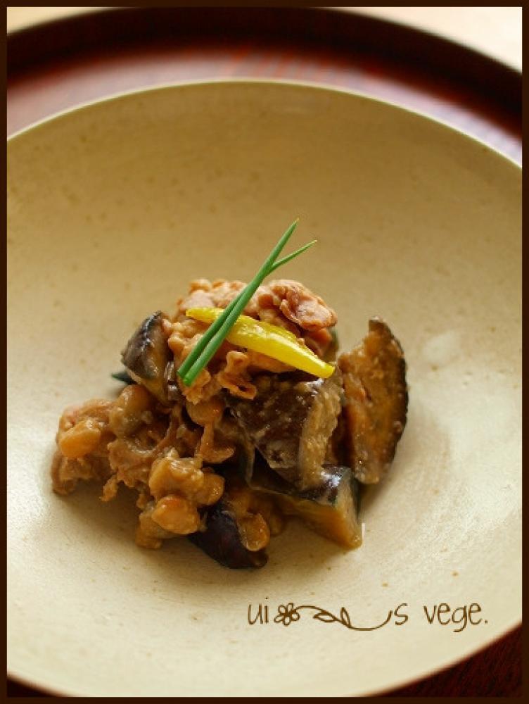 茄子と豚肉のオイスター味噌炒め