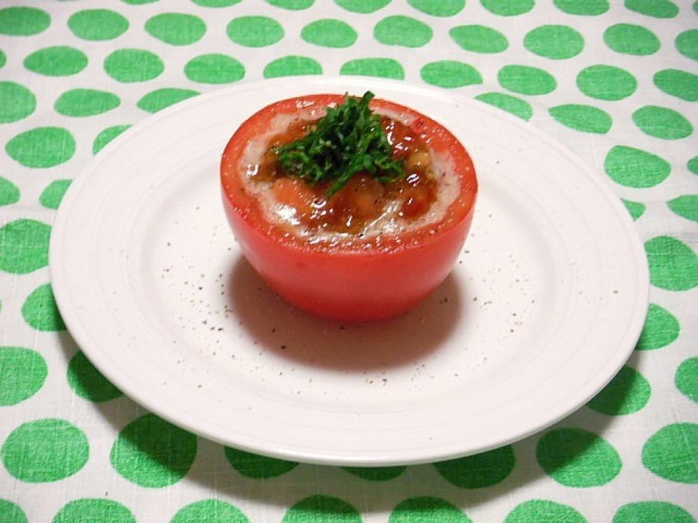 トマト納豆シラスのキラキラカップ