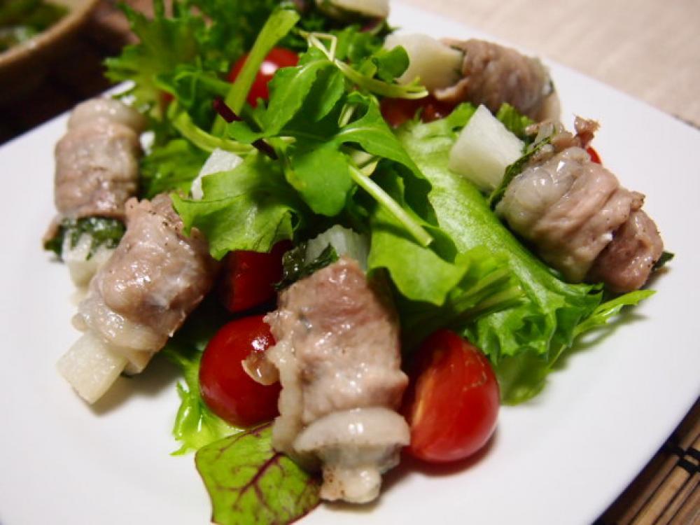 長芋の紫蘇豚肉巻き