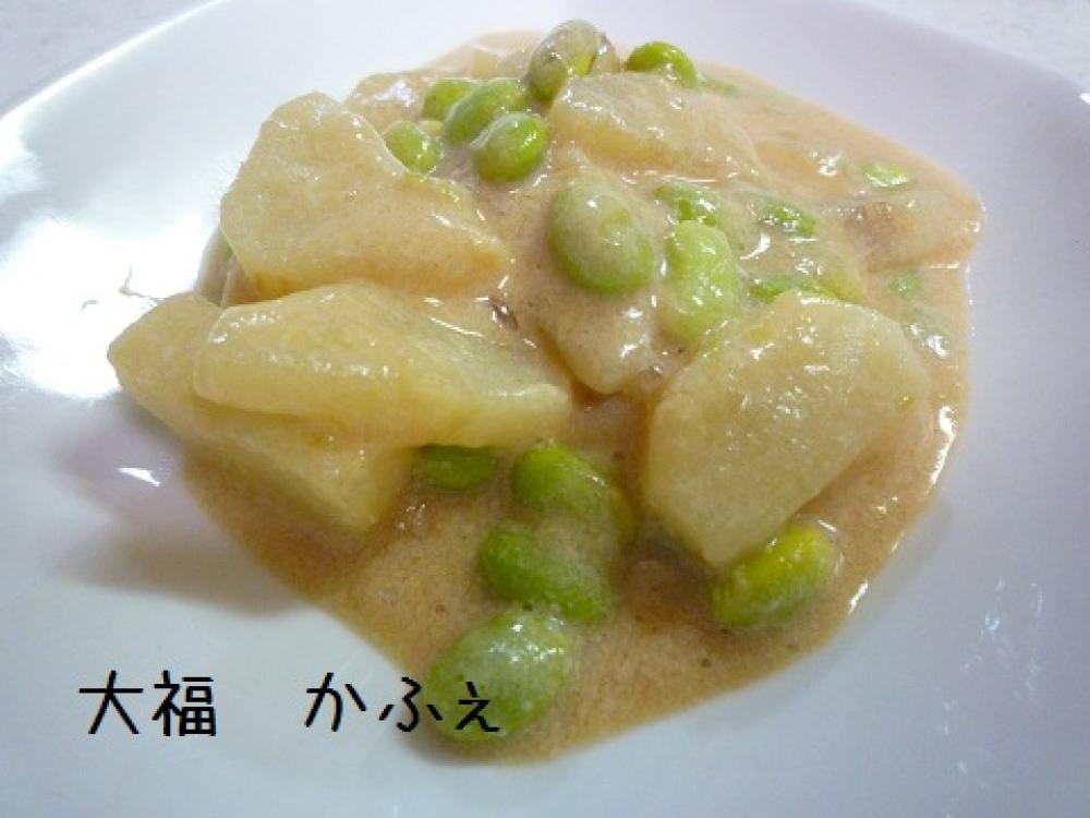 長イモ枝豆 de 豆乳クリーム煮