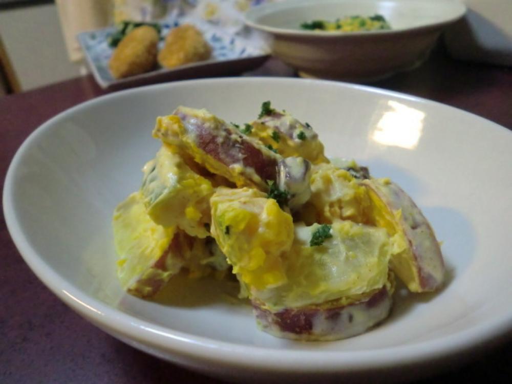 南瓜と金時芋のヨーグルトサラダ