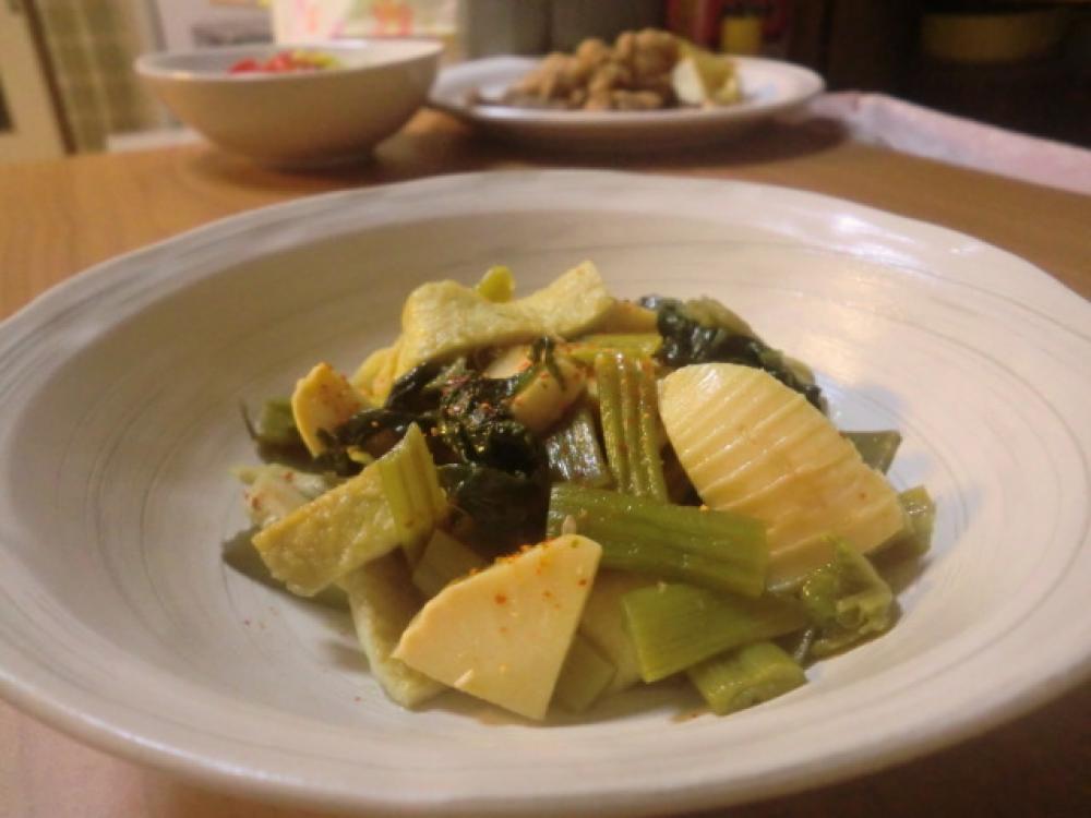 筍とやちブキの炒め煮