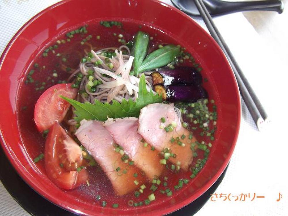 冷やし☆ローストビ-フ蕎麦
