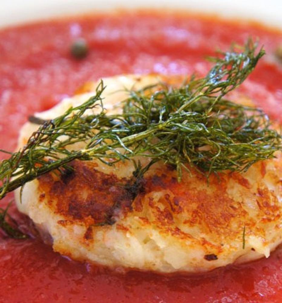 クリーム蟹風味ソテポリトマソース