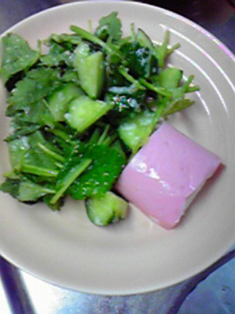簡単美味しい☆三つ葉ときゅうりの塩麹和え
