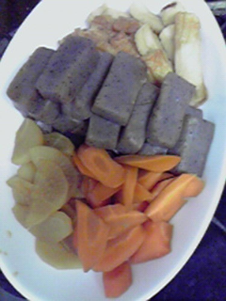 美味しいこんにゃく・ちくわ・根菜の煮物♪