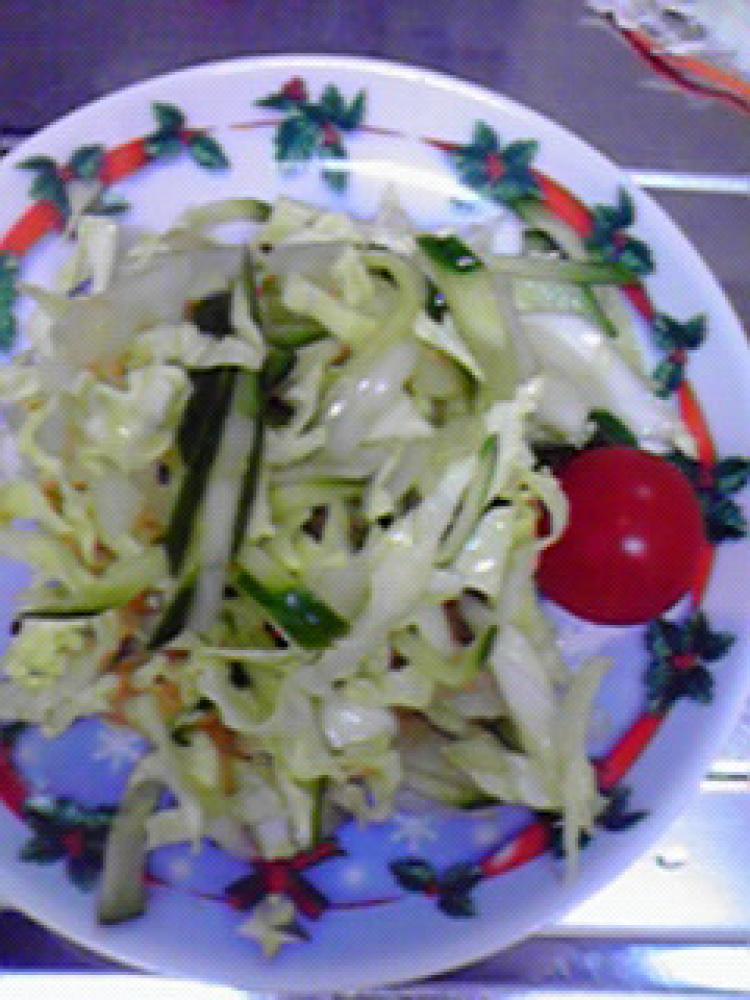 春キャベツ・きゅうり・新玉ねぎのサラダ♪