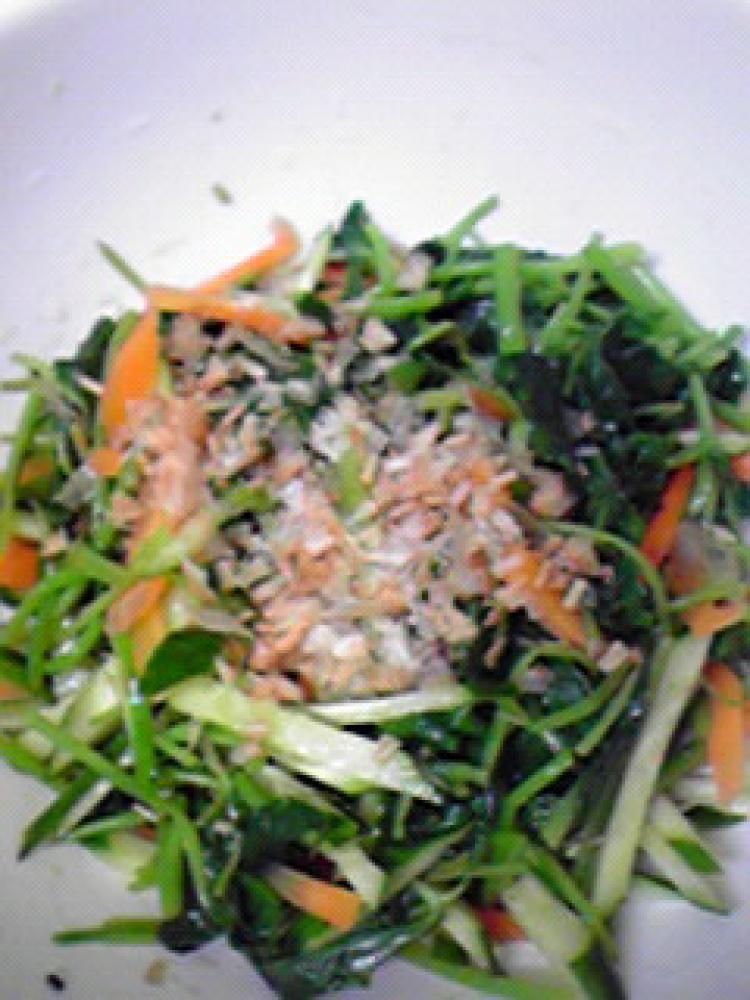 簡単☆三つ葉・人参・きゅうりのサラダ♪