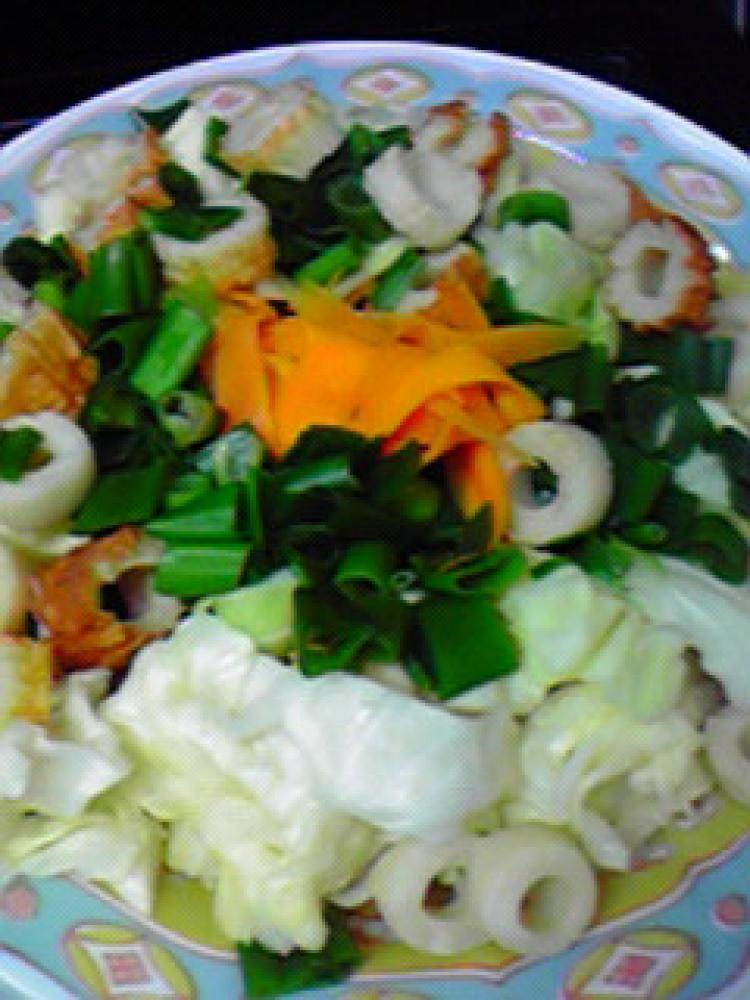 野菜たっぷり☆ちくわと野菜のレンジ蒸し♪