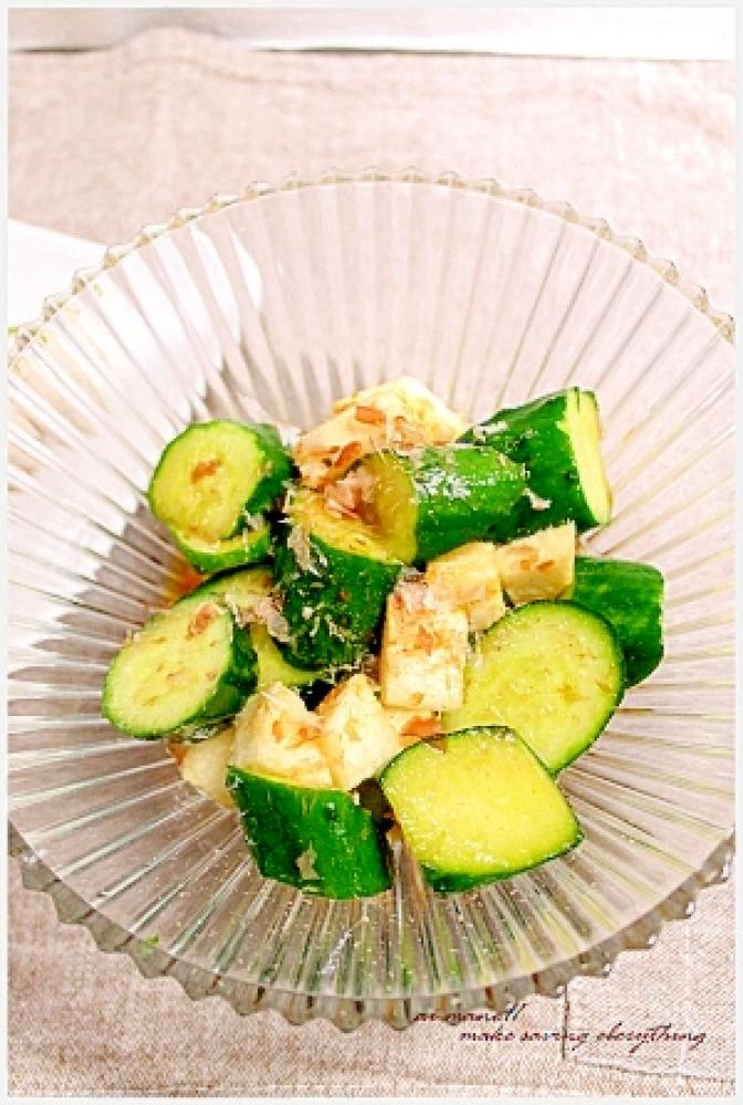 キュウリと長芋のサラダ